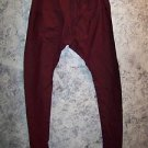 Salwar drawstring trousers India tight scrunched bunched ankle pants red black