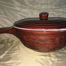 Vtg MARCREST Oven Proof daisy handled casserole dish cover Mid Century stoneware