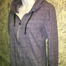 DC hooded hoodie zip up sweatshirt jacket varigated purple M logo embroidery GC