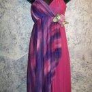 Flowing leotard dress asymmetrical pink purple Halloween fairy costume women S-M