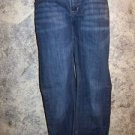 Women's junior size 15 stretch jeans low rise dark wash straight leg EUC pants