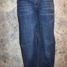 Women's junior size 15 stretch jeans low rise dark wash straight leg EUC pants