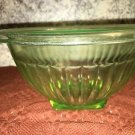 Vintage green DIAMOND CRYSTAL Shaker Salt promotion depression glass mixing bowl