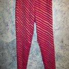 Indian India salwar trousers pants hot pink silk metallic gold beads sequins XS