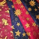 6 CHRISTmas pattern stars angels cherubs fabric material pieces sewing 2x4' cut