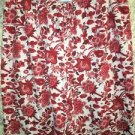 Red floral sleep lounge pajama bottoms pants M 8-10 stretch LAND'S END mid rise