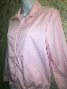 Vintage 80s BROOKBRIDGE pink lightweight cotton windbreaker collared S spring
