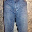 METRO 7 boot cut mid-rise women's sz 12 back pocket button flap denim blue jeans