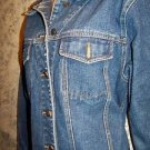 BILL BLASS jean jacket basic style women's L 100% cotton biker casual hippie