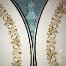 "2 SHEFFIELD Imperial Gold #504 W vintage fine china dinner plates 10"" elegant"