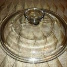 """Round 7"""" PYREX 19 glass casserole dish ovenware bakeware lid clear replacement"""