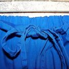 Royal blue scrubs pants nurse dental medical women L elastic drawstring waist