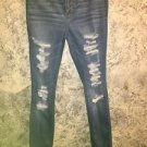 PACUN high waist Jegging jeans stretchy distressed destroyed junior size 27 blue