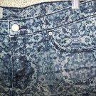 MOSSIMO denim jean black blue decorative dye jean shorts women's 4 frayed hem
