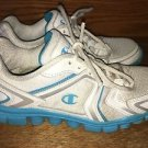 CHAMPION lightweight running walking athletic tennis shoes sneakers white aqua 8