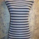 CITIKNIT knit slinky stretchy sleeveless shell tank stripes women's plus 1-2X