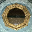 Gold frame octagon mirror shabby chic vintage regency BURWOOD PROD made USA 7""