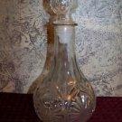 Vintage heavy glass decanter stopper starburst pattern bottle whiskey liquor GVC