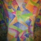 PEACHES bright color scrubs nurse medical dental uniform top pullover women's M