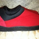Rubber sole fleece upper thick cushion pad insole red EC slipper shoes womens S