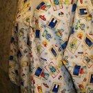 3/4 sleeve back tie swimming cat scrub top jacket dental lab nurse uniform XL 1X