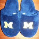 U of M Michigan blue gold adult size small 5-6 plush slip on slippers cushioned