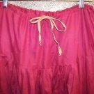 Salwar pleated baggy harem trousers hippie India yoga pant dark rose lightweight