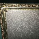 Vintage gold metal embossed photo picture frame 8x10 wedding deco velvet back