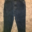 Vintage LEE high waisted taper leg dark stonewash jeans 10 petite 80s retro fit