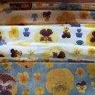 "Pansies violas fabric material Italian cotton AVIGDOR  (16) 15x15"" (14) 17x46"""