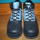 Water resistant ankle hiking fashion boots rubber upper blue black women 9.5 GUC