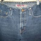SILVER JEANS denim blue jean dark pants wash flare leg mid rise size 27 Used
