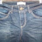 Modest length women 4 denim blue jeans bermuda shorts low rise stretch whiskered