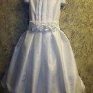 Girls size 8 formal flower girl paegeant dance wedding dress white NWT elegant