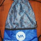BUCKLE boy's girl's drawstring gym book bag back pack tote blue gray school used