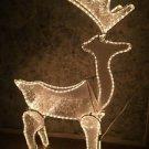 "48"" 3D animated deer buck crystal ice panels CHRISTmas yard decor rope lighting"