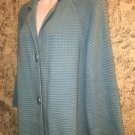DRESSBARN blue 3/4 sleeve large button cardigan sweater sz 14/16 casual career
