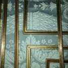 2 matching gold brass metal emboss photo picture frames 8x10 Mid Century Modern