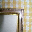 2 embossed ornate detail gold metal photo picture frames 5x7 3x4 easel table top