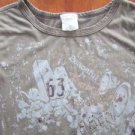 MAURICES junior women's size S small knit top clothes rock n roll guitar t shirt
