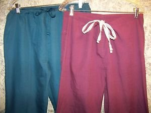 2 drawstring light scrubs pants nurse surgical dental medical uniform S MedGear