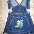 TWEETY BIRD Looney Tunes denim jean coveralls bib overalls farmer pants girl XL