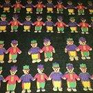 Vintage CHRISTmas tree toy soldier teddy bear paper garland chain lot KIRK ADLER
