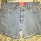 "LEVI STRAUSS Stretch shorts modest 5"" length blue jeans Misses 12 light wash"