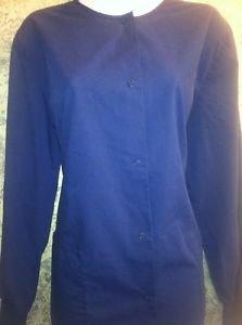 LANDAU short sleeve scrub crew neck button top jacket medical uniform women XL