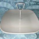 WEAR EVER Brookfield melmac square sandwich plate w/handle vintage plastic retro