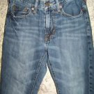 AMERICAN EAGLE Slim Straight all cotton denim blue jeans men's boy's size 26x28