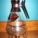 Vintage Eames Era Mad Men Mid Century INLAND 12C coffee carafe warmer stand GVC