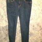 MOSSIMO blue jeans skinny stretch Fit 6 low rise medium wash junior's 11 regular