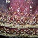 "37x84"" Indian formal dupatta shawl wrap sheer organza ornate embellished beaded"